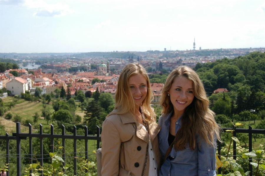 View of Prague from Strahov Monestary, Prague, Czech Republic.