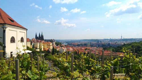 Overlooking Prague from Strahov Monestary, Prague, Czech Republic.