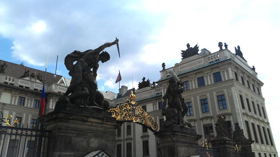 Prague Castle gates, Prague, Czech Republic.