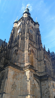 St. Vitus's Cathedral clock, Prague, Czech Republic.