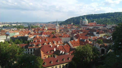 View of Prague from Prague Castle, Prague, Czech Republic.