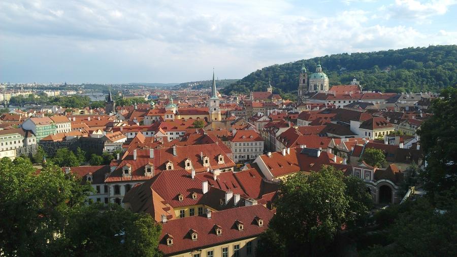 View of Prague from Prague Castle, Prague, Czech Republic.