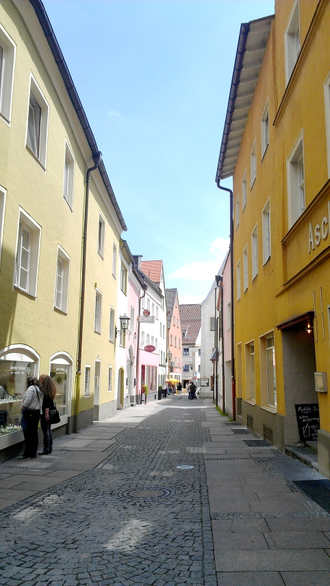 A street in Fussen, Germany.
