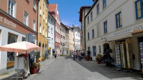 A street in Fussen, Germany.