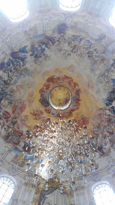 Ettal Basilica chandelier in Ettal, Germany.