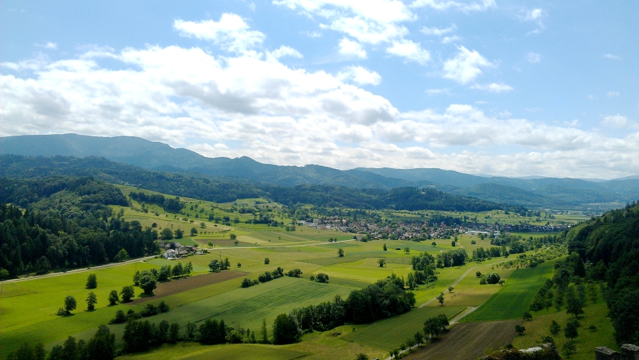 View from Hochburg Castle, Emmendingen, Germany.