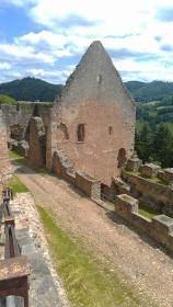 Hochburg Castle ruins, Emmendingen, Germany.