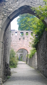 Alt-Eberstein ruins in Ebersteinburg, Germany.