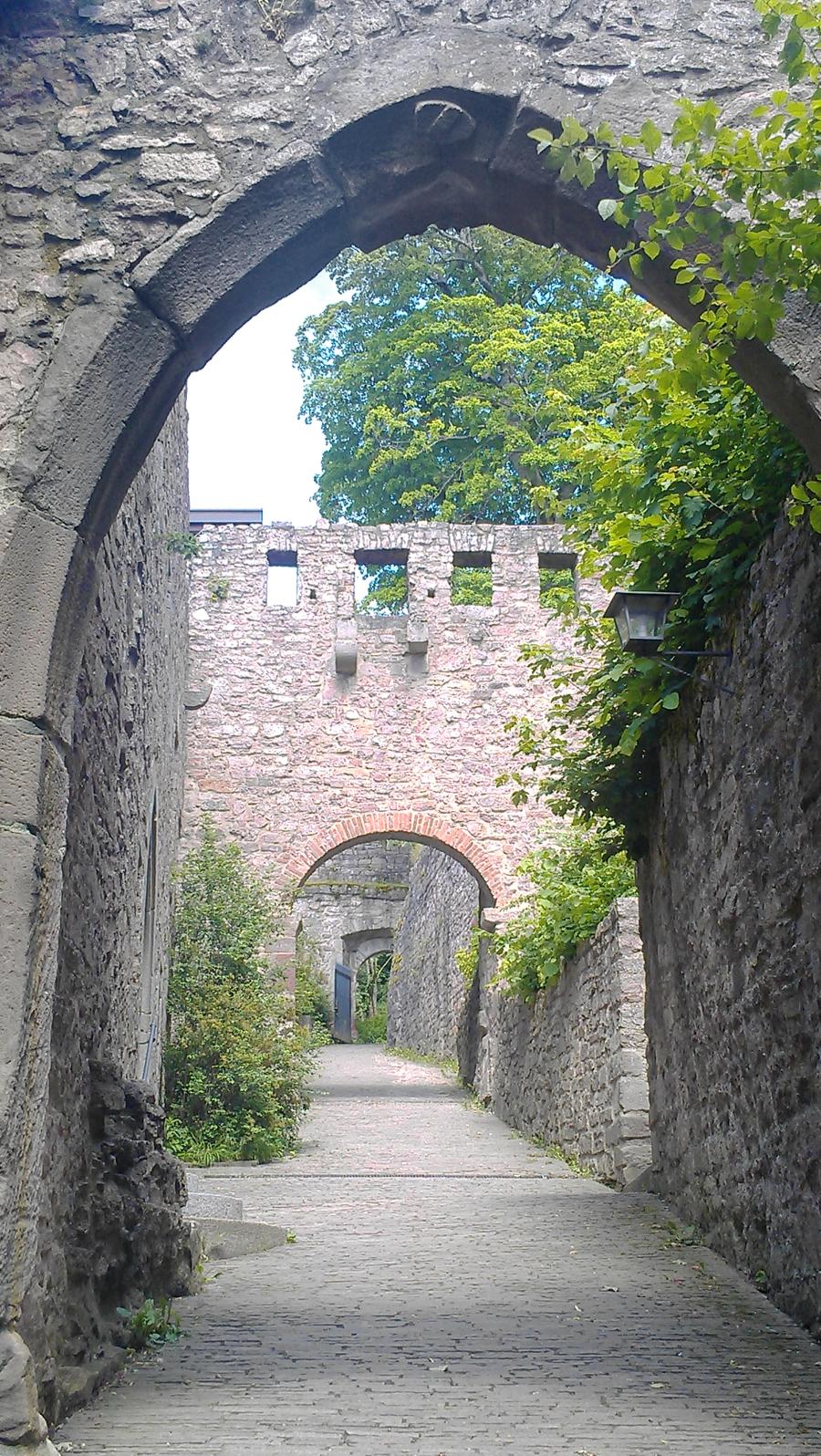 Alt-Eberstein ruins in Ebersteinburg, Germany.