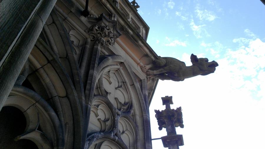 Ulm Minster gargoyle, Ulm, Germany.