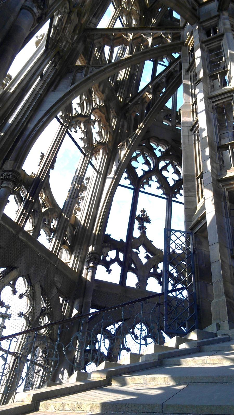 Ulm Minster tower stairs, Ulm, Germany.