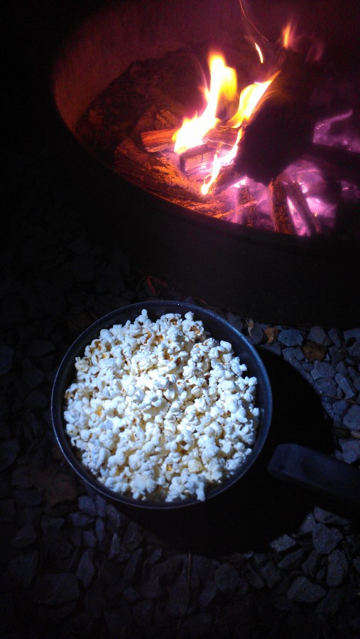 Popcorn popped over the fire the Great Smoky Mountains National Park.