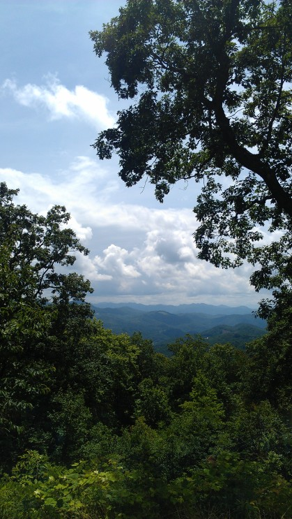 The view from Balsam Mountain Campground in the Great Smoky Mountains National Park.