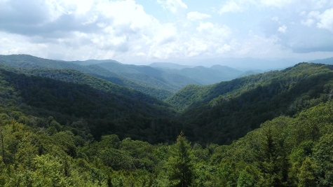 A lookout part on Blue Ridge Parkway in the Great Smoky Mountains National Park.