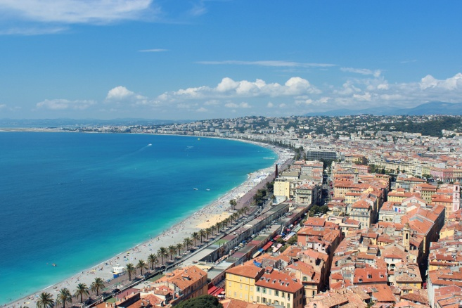 The coast of Nice.