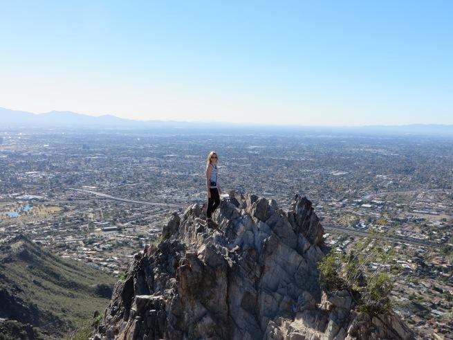 Atop Piestewa Peak.
