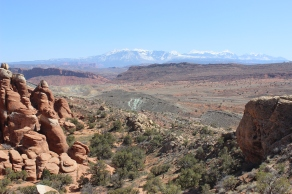A lookout point in Arches National Park.