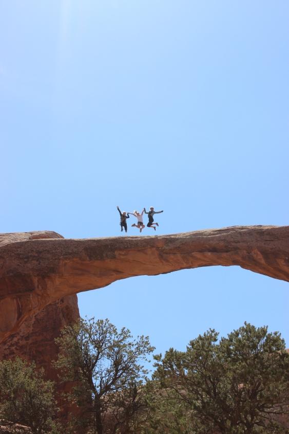 Atop Double O Arch.