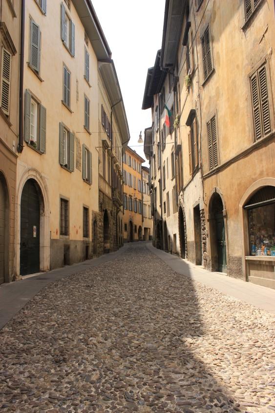 Citta Alta of Bergamo, Italy.