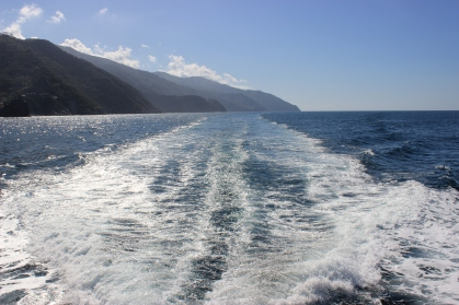 Ferrying between the towns of Cinque Terre National Park.