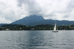Ferrying from Lucerne to Mount Pilatus.