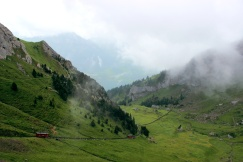 The steepest railroad in the world up to Ferrying from Lucerne to Mount Pilatus.