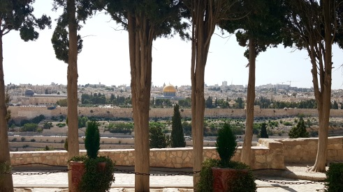 View of the Old City from the Mount of Olives.