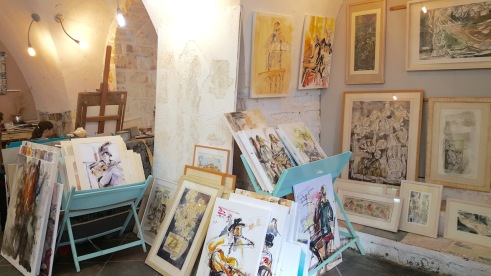 Gallery of artist Masha Orlovitch in Safed.