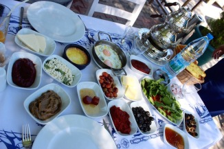 Traditional Turkish breakfast.